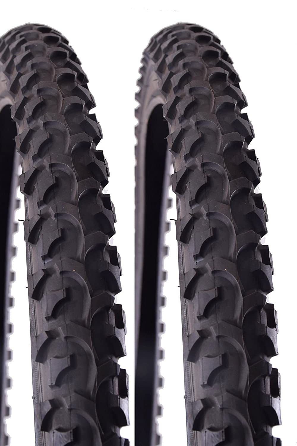 Kenda K850 26' x 2.10' Mountain Bike ATB Tyres Knobbly Tractor Tread Black - 2 tyres