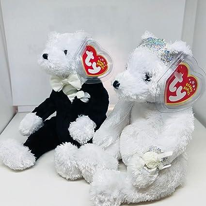 3b7999406d5 Amazon.com  Ty Bride   Groom Beanie Babies Plush  Toys   Games