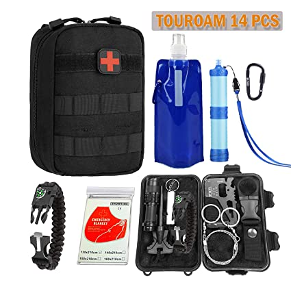 TOUROAM Emergency Survival Kit|Tactical Admin Pouch,Water ...
