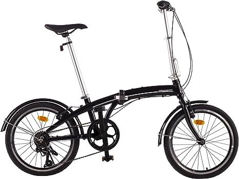 Ultrasport Shimano Revoshift Bicicleta Plegable de Aluminio de 20 ...