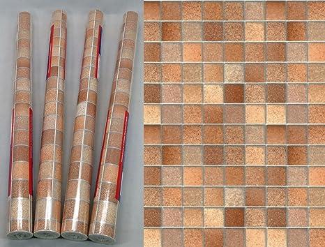 Rotoli di pellicola piastrelle toscana marrone mobili