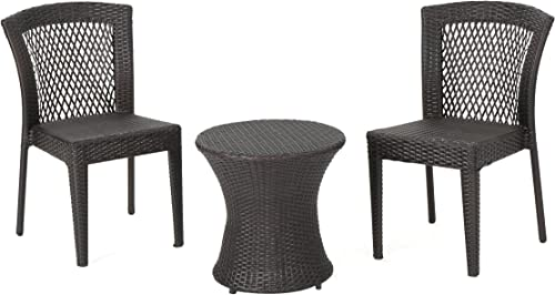 Christopher Knight Home Catskills Outdoor Wicker Stacking Chair Chat Set