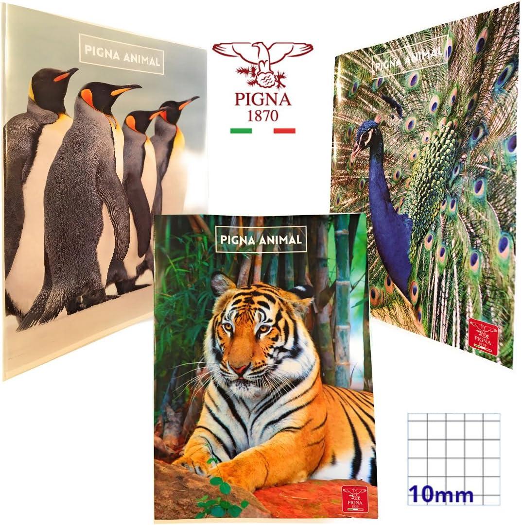 Quaderni PIGNA ANIMAL rigatura 10mm SET da 3 quaderni elementari