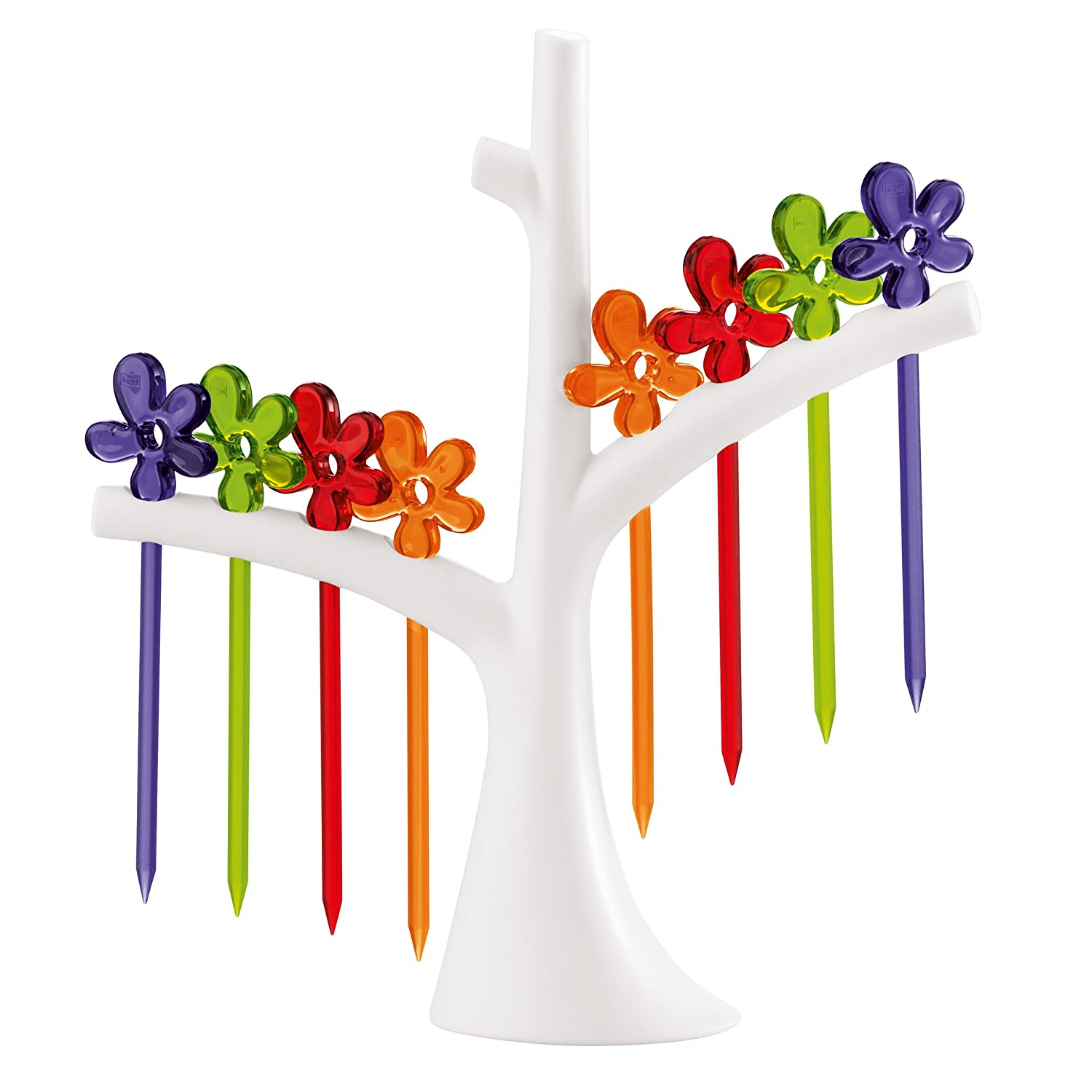 koziol hors d\'oeuvres forks with tree A-Pril, thermoplastic, white ...