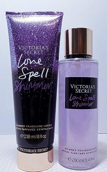 d1516a7da8 Image Unavailable. Image not available for. Color  Victoria s Secret  Shimmer Love Spell Bundle Fragrance Mist   Fragrance Lotion