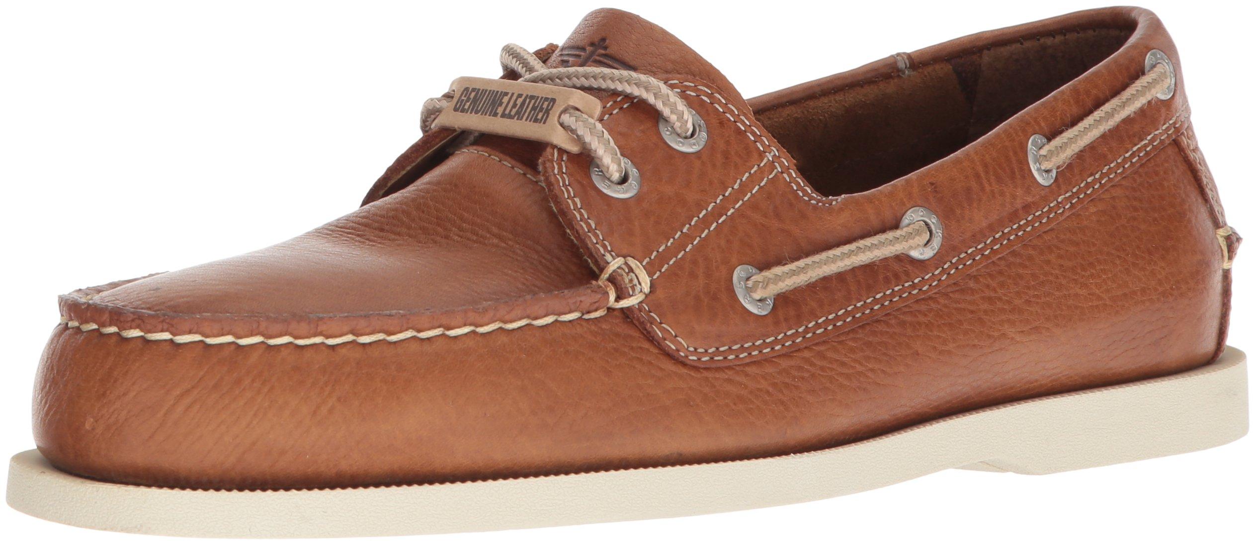 3c72b38253 Galleon - Dockers Mens Vargas Leather Casual Classic Boat Shoe, Dark Tan, 7  M