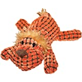 Patchwork Pet Waffle Wags Lion 14-Inch Squeak Toy for Dogs