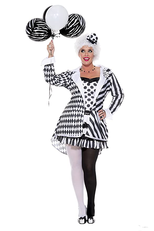 Roaring 20s Costumes- Flapper Costumes, Gangster Costumes Music Legs Womens Plus-Size Circus Damned $51.02 AT vintagedancer.com