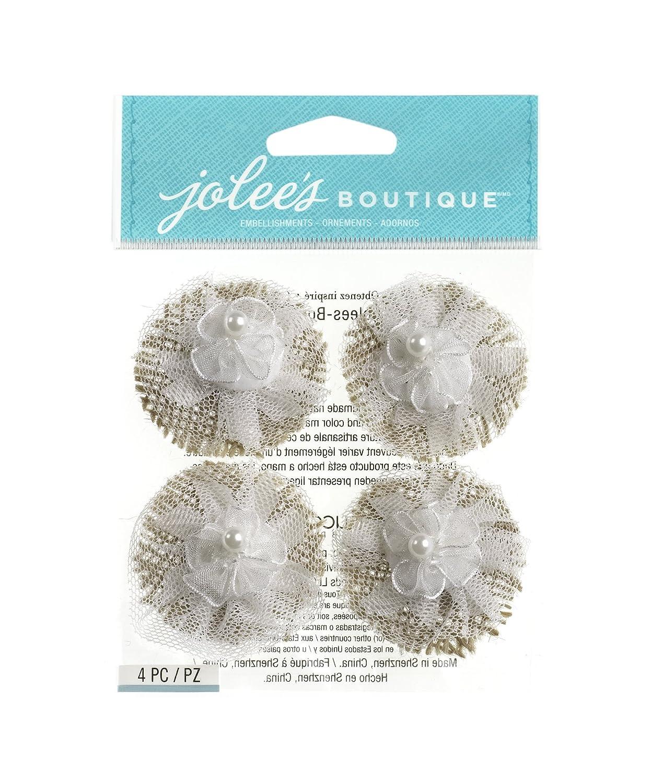 Lace Flowers Jolee/'s Boutique 50-21635 Jolees Boutique Dimensional Stickers
