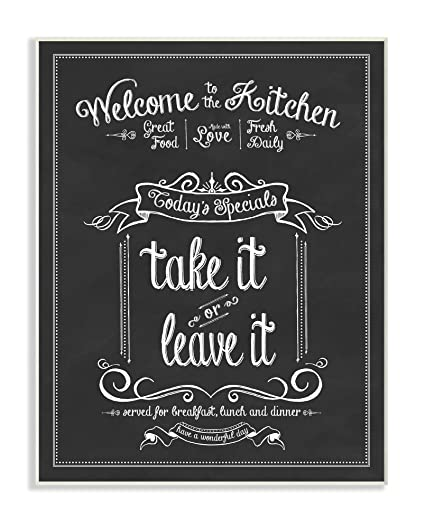 Amazon Stupell Home Decor Welcome To The Kitchen Chalkboard