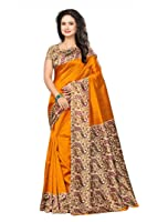 Vatsla Enterprise Women's Silk Saree With Blouse Piece(VTSLK-50_YELLOW)