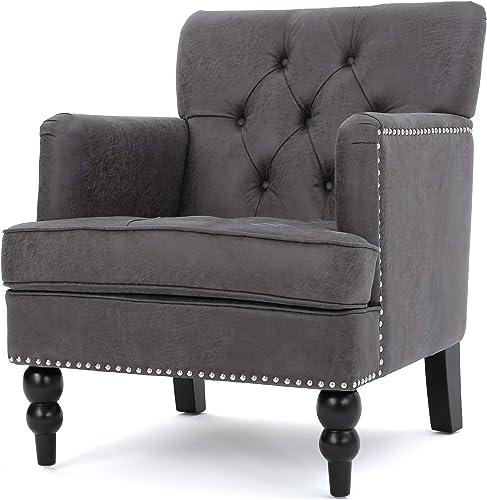 Herres Slate Grey Club Chair - a good cheap living room chair