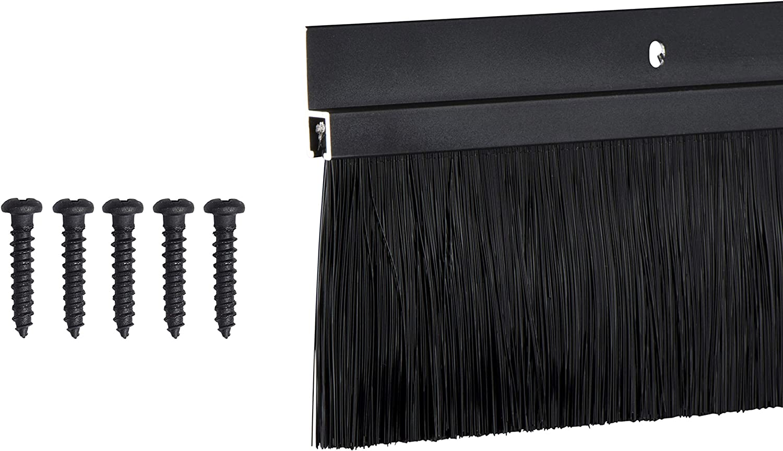 TMH Door Brush Sweep - 2 Inch Brush x 36 Inches Long, Dark Bronze (Black)