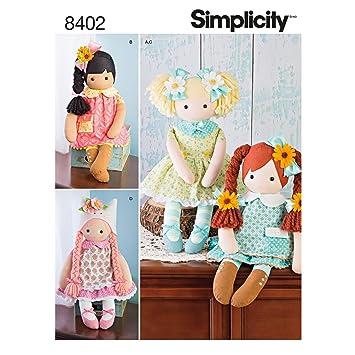Simplicity Muster 8402 58,4 cm gefüllt Puppe mit Kleidung, Papier ...
