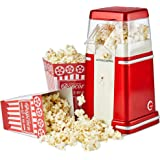 Andrew James Retro Air Pop Popcorn Maker Machine with Four Cinema Style Reusable Boxes and Simple One Touch Operation, 900W