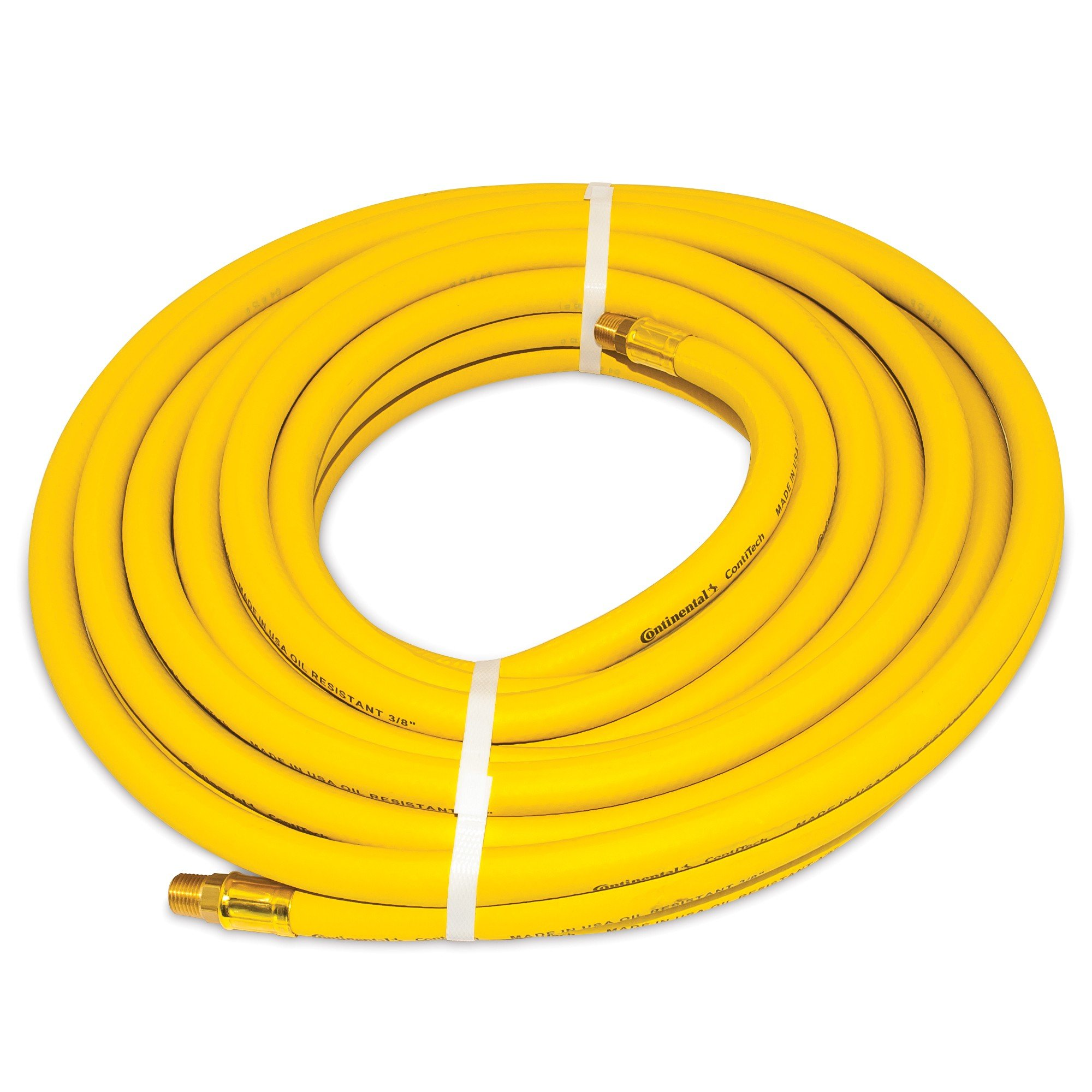 Continental 045 3/8-Inch-by-50-Feet Safety Yellow Rubber Hose 3/8 -Inch by 50-Feet 250 PSI With 1/4-Inch Ends
