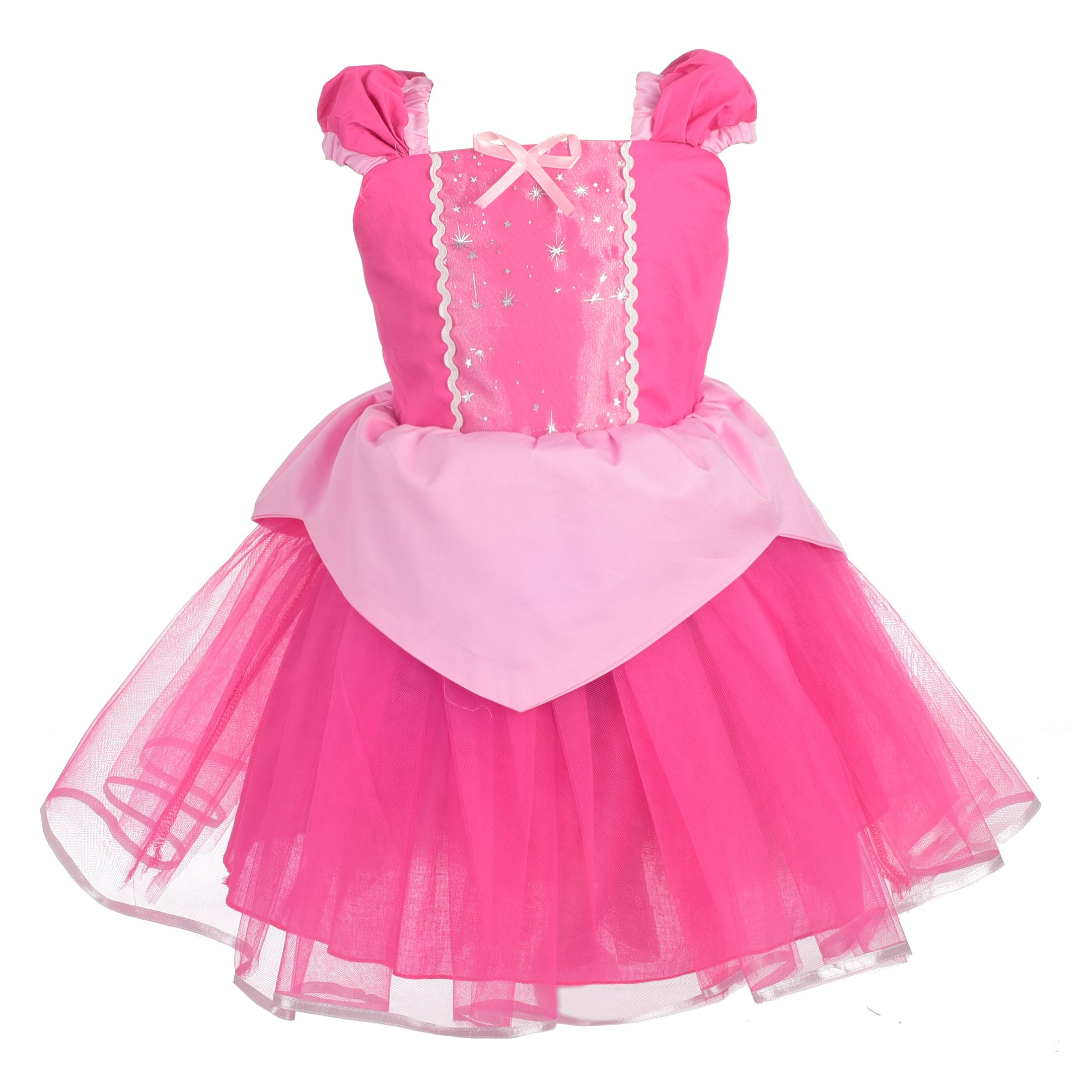 Dressy Daisy Girls Princess Aurora Dress Costume Summer Dress up Size 2T / 3T