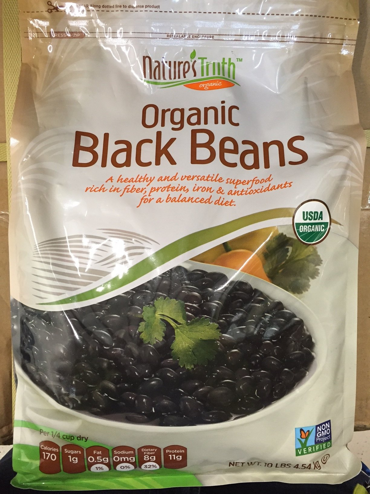 NATURE'S TRUTH ORGANIC BLACK BEANS 10 LBS BAG by Nature's Truth