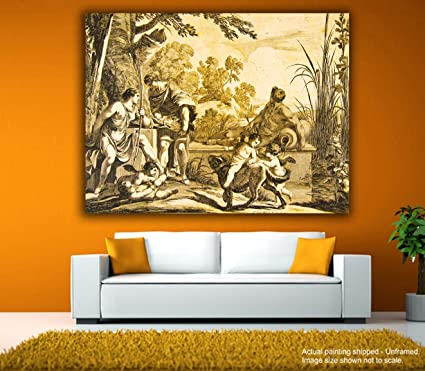 Tamatina Canvas Paintings - Sunrise in Rome - Cupids Playground ...