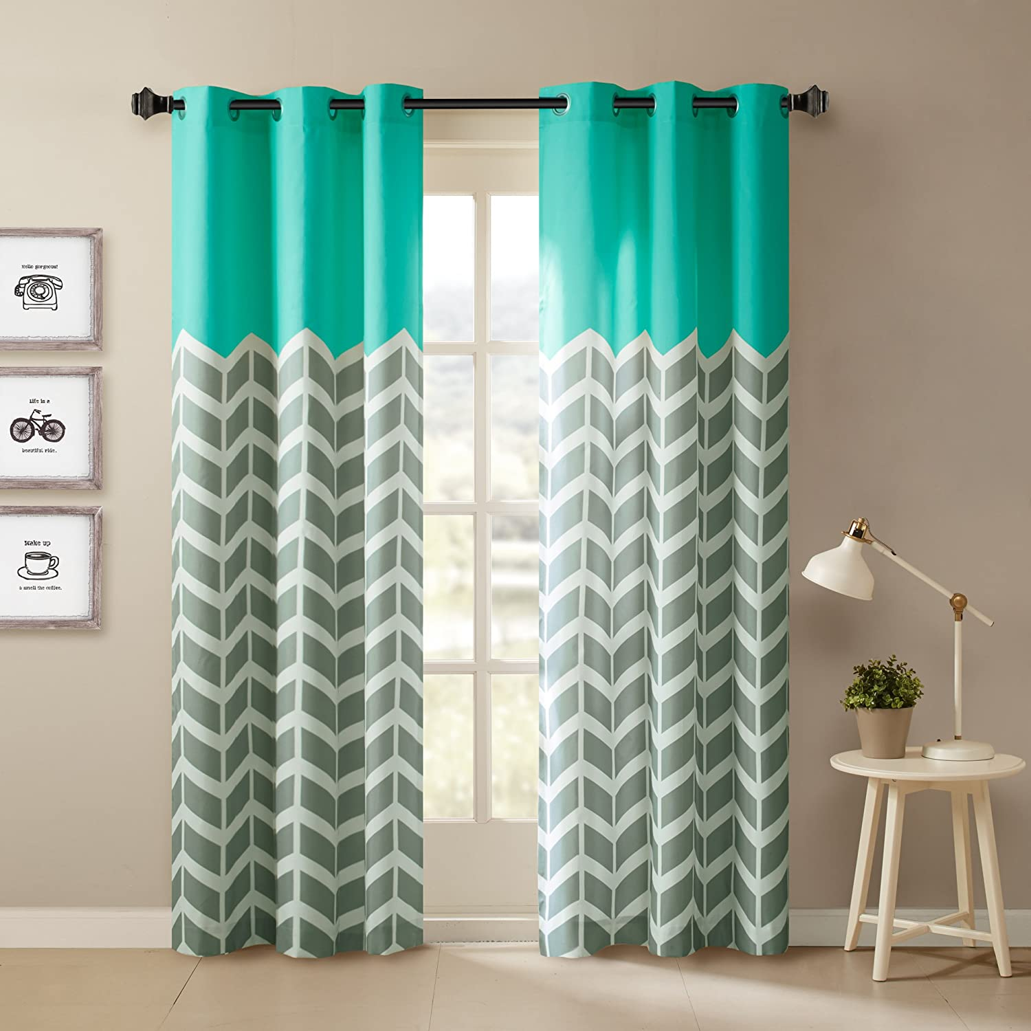 shower of design curtains brown teal and curtain lovely ideas image