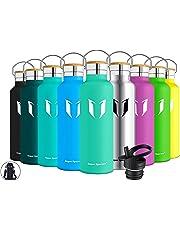 Super Sparrow Trinkflasche Edelstahl Wasserflasche - 350ml & 500ml & 620ml & 750ml & 1000ml - Isolier Flasche mit Perfekte Thermosflasche für das Laufen, Fitness, Yoga, Im Freien und Camping | BPA FREI