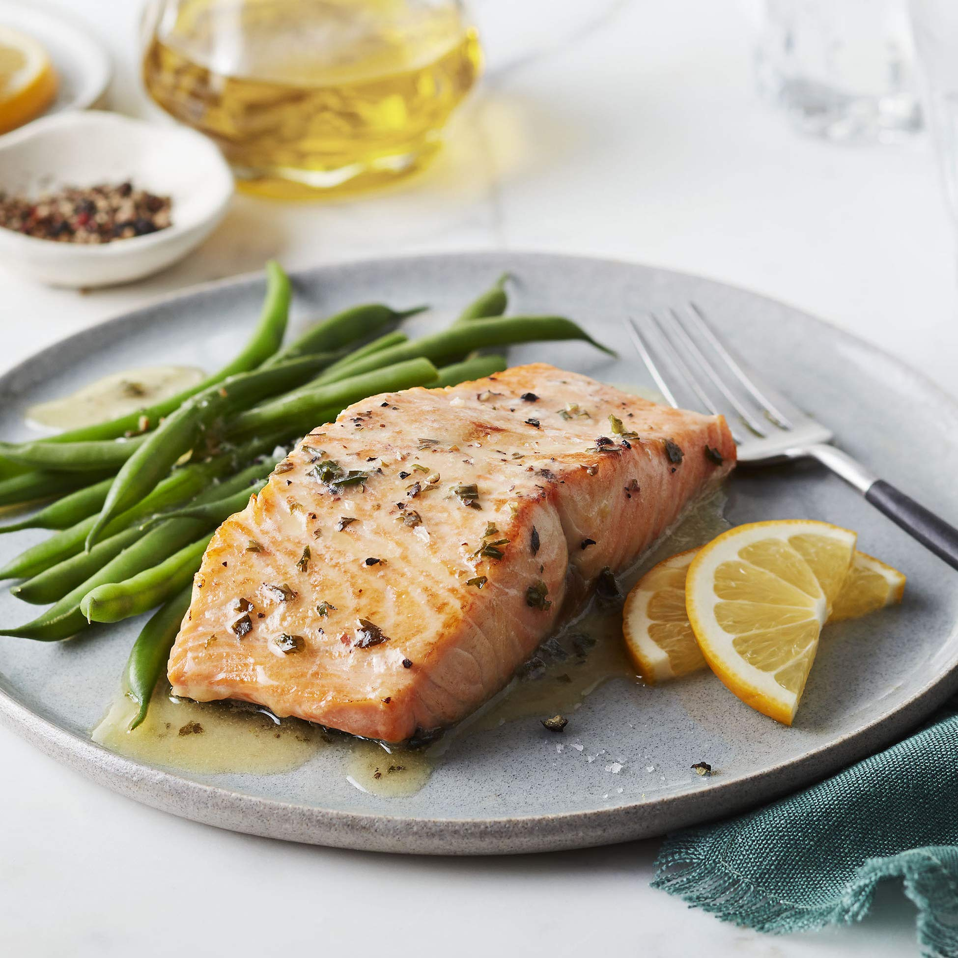 Martha Stewart for True North Seafood: Simple and Easy Sockeye Salmon with Miso Butter and Atlantic Salmon with Lemon Herb Butter - (Pack of 4) 11 oz. Trays by True North Seafood Company (Image #5)