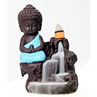 Decora Craft Buddha Backflow Smoke Fountain with Scented Cone Incenses (Blue, Standard Size)