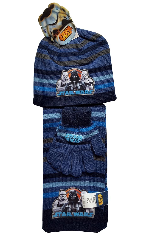 Star Wars Ragazzi Ufficiale sotto licenza Guanti, Berretto e sciarpa una dimensione 4 –  10 anni Berretto e sciarpa una dimensione 4-10anni