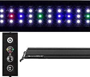 BeamsWork Vivio Full Spectrum LED Timer Adjustable Dimmer Aquarium Fish Tank Light Freshwater 12 20 24 30 36 48