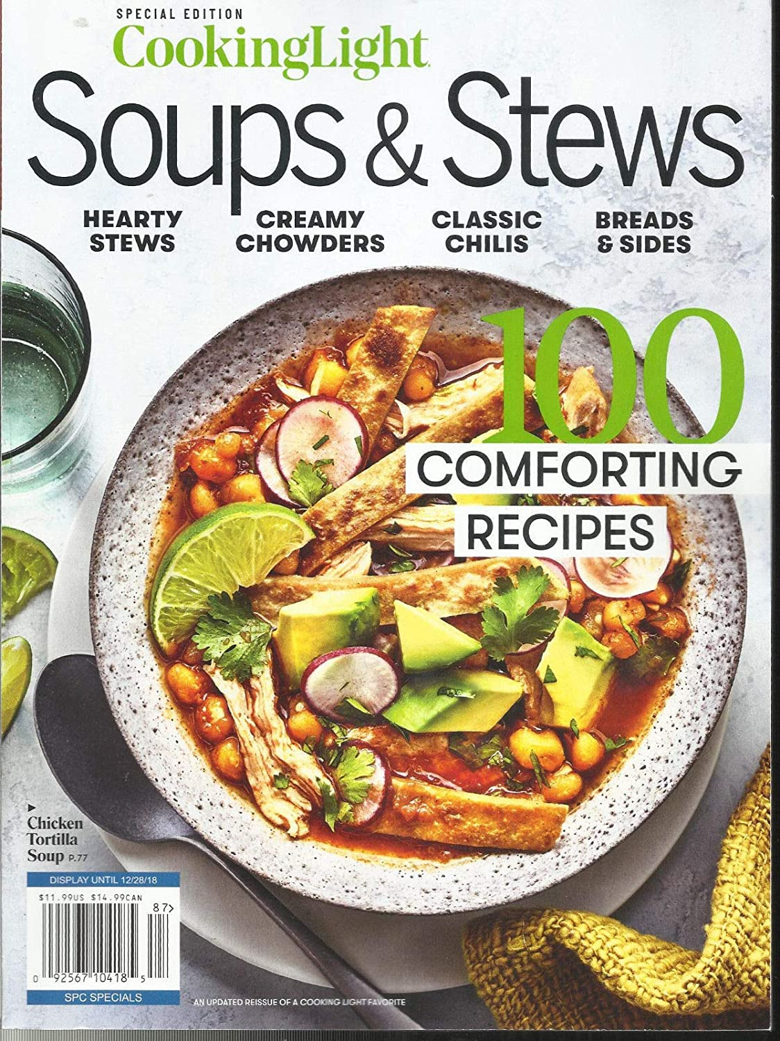 COOKING LIGHT MAGAZINE, SPECIALS EDITION, 2018 SOUPS & STEWS * COMFORTING RE s3457