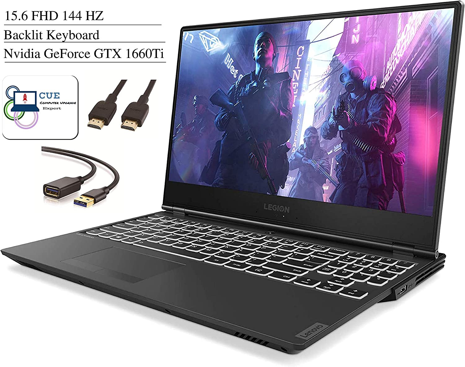 Lenovo Legion Y540 15.6 FHD 1080P 144Hz IPS Gaming Laptop Intel 6-Core i7-9750H, 16GB DDR4 RAM, 256GB SSD, NVIDIA GeForce GTX 1660Ti, Bluetooth, WiFi, HDMI, Win10 + CUE Accessories