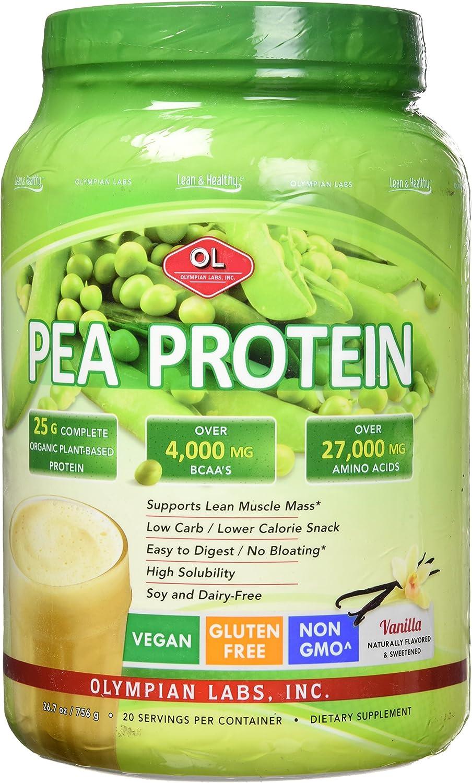 La proteína de guisante magra y saludable, sabor a vainilla, el 25,9 oz (736 g) - Olympian Labs Inc.