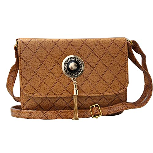 bea536f76c Attire Fancy Stylish Elegance Fashion Sling Side Bag for Women    Girls(Brown)