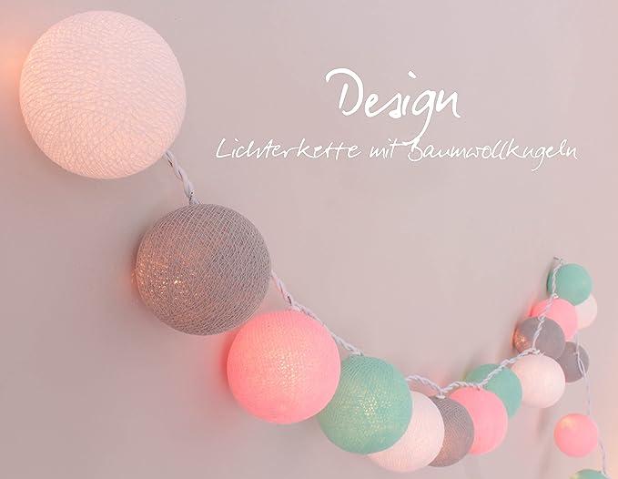 CREATIVECOTTON Guirlande Lumineuse, Boules de Coton avec Mode Timer et Mode  Veilleuse (Chambre de Bébé, 35 Boules)