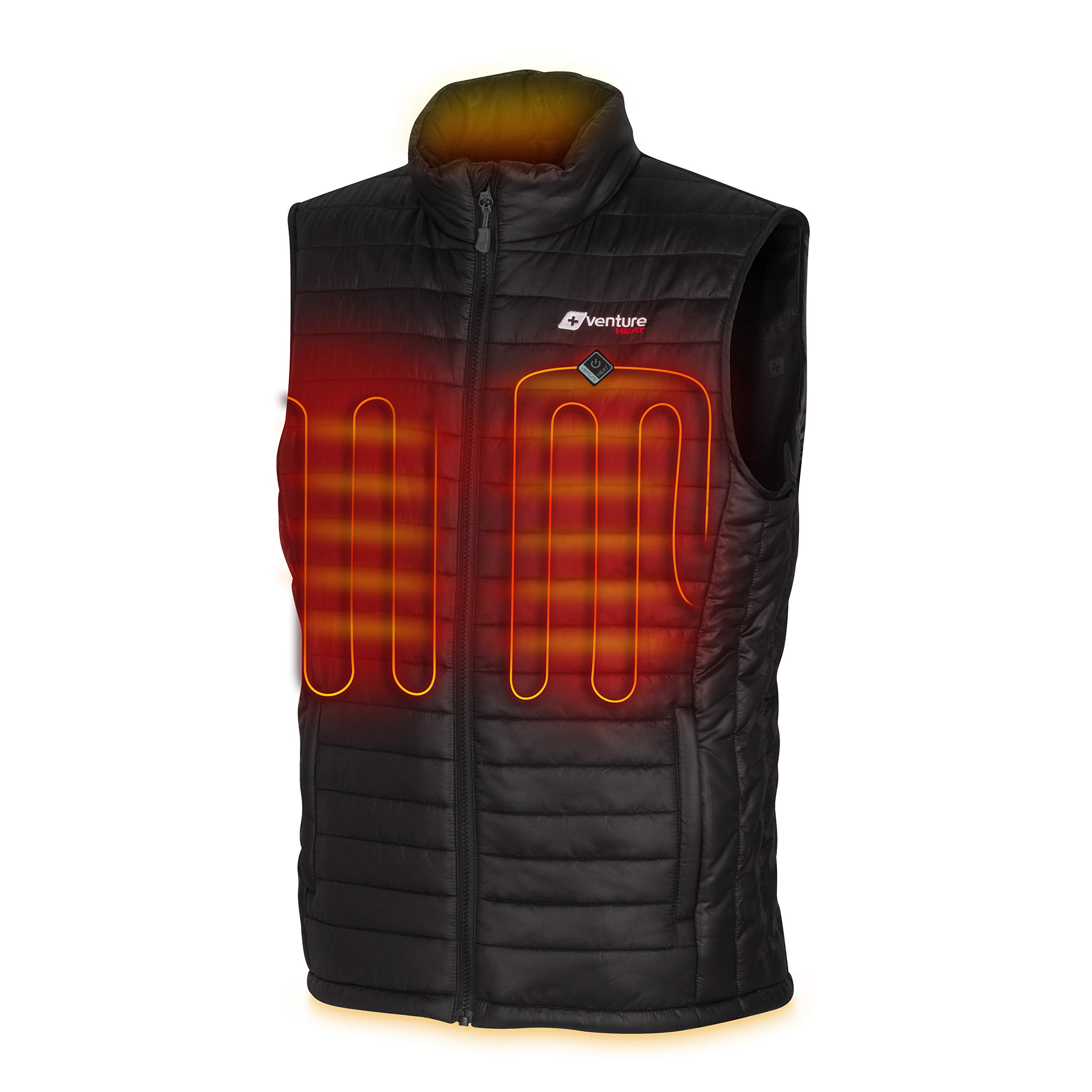 Venture Heat Men's Heated Vest with Battery Pack - Insulated Electric Jacket Puffer Layer, Roam 2.0 (M) Black by Venture Heat