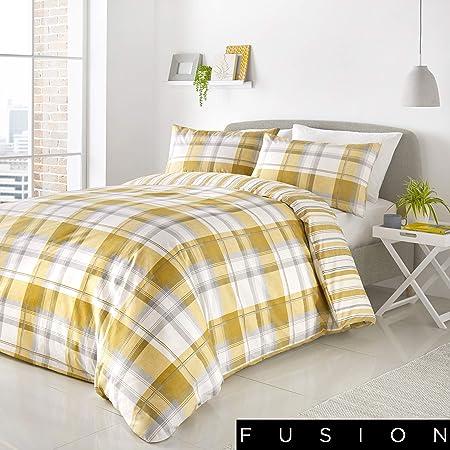 Black /& White Fusion Leopard Print EasyCare Duvet//Quilt Cover Bedding Set Ochre