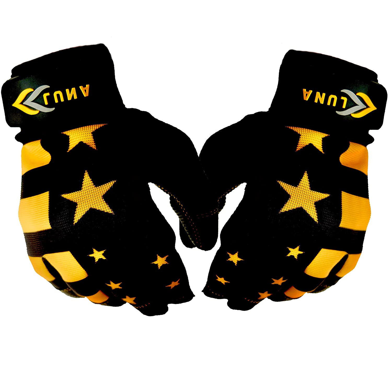 L NA Baseball and Softball Batting Gloves American Flag Style Durable Quality Baseball Gear Genuine Leather Unisex