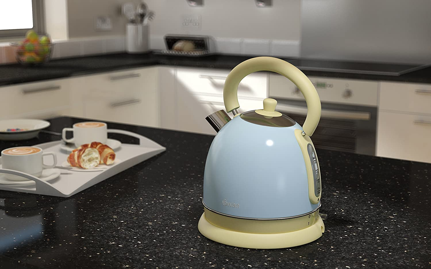 Duck Egg Blue Swan Retro Dome Kettle, 1.8 Litre