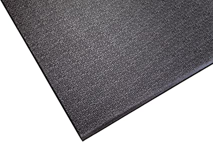 Mat for Cardio 2.5-Feet x 5-Feet SuperMats Solid P.V.C Fitness