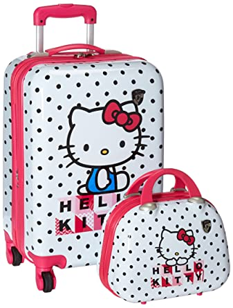 Amazon.com | Heys Girls' Spinner and Beauty Case, Hello Kitty ...