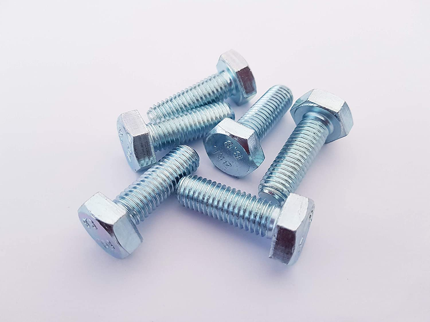 Pack of 10 ZINC Plated Fully Threaded SETSCREWS 10mm x 60mm M10 HEX Bolts