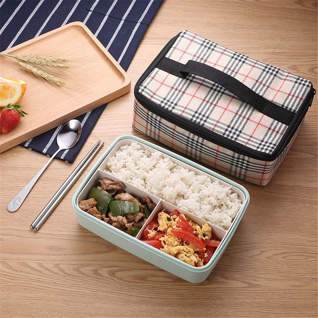 ZLLi ZLLi ZLLi Caja de almuerzo de microondas caja de almuerzo caja de almuerzo plástica sellada a prueba de calor caja de almuerzo, verde nórdico 0186ae