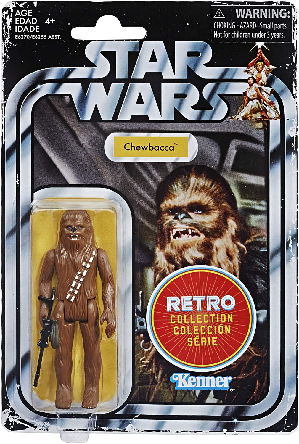 STAR WARS THE RETRO COLLECTION E4 A NEW HOPE CHEWBACCA 3 3//4 INCH ACTION FIGURE