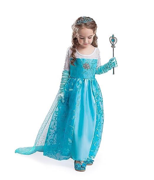 ELSA & ANNA® Princesa Parte Disfraz Traje Set Las Niñas ...