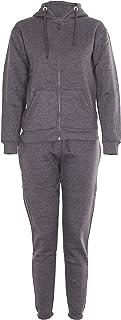 Noroze Kids Boys Girls Plain Tracksuit Hooded Jogging Suit