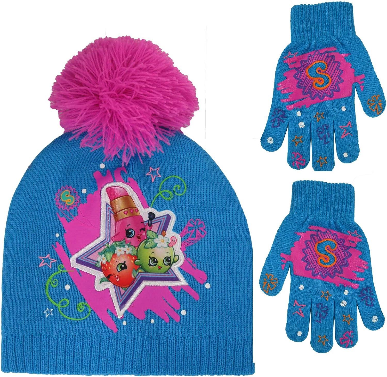 Shopkins女の子星ビーニー帽子と手袋セット[ 4013 ]