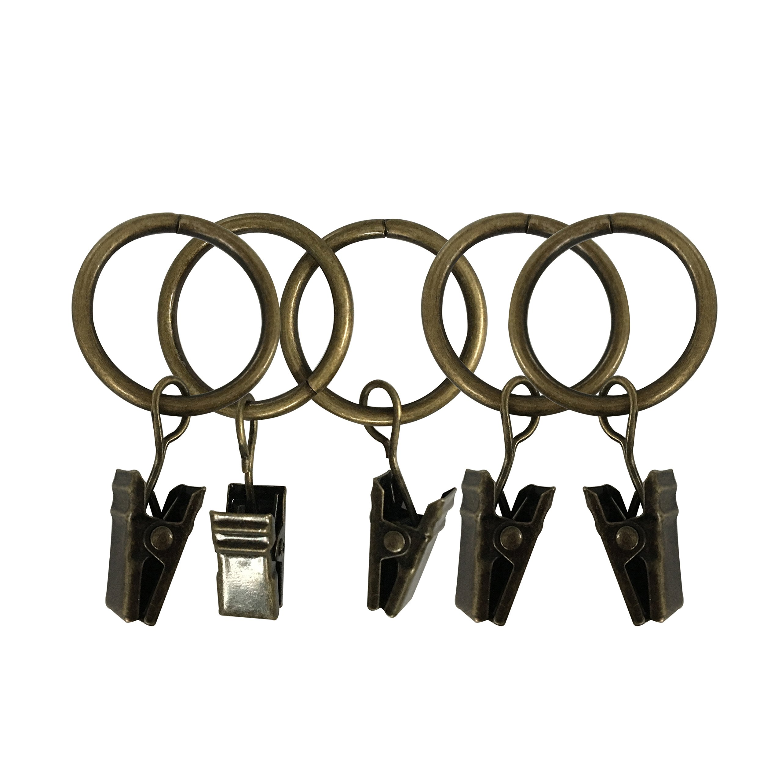Easy2Hang Premium Drapery Clip Rings Extra Thick 2'' Bronze 40 pack