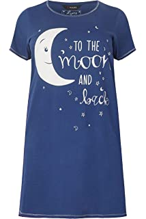 YOURS LADIES BLUE STAR PRINT DUMBO COTTON NIGHTDRESS NEW