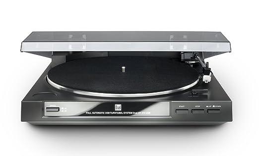 Dual DT 210 USB - Tocadiscos para equipo de audio (USB, 35/45 rpm), color negro