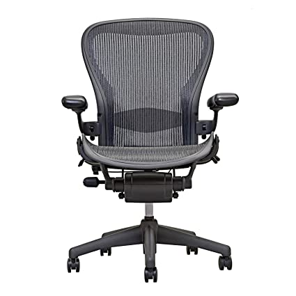 Attractive Herman Miller Aeron Executive Office Chair Size B Fully Adjustable Arms Lumbar  Support